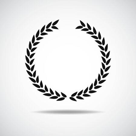 Laurel icon isolated on white background Ilustración de vector