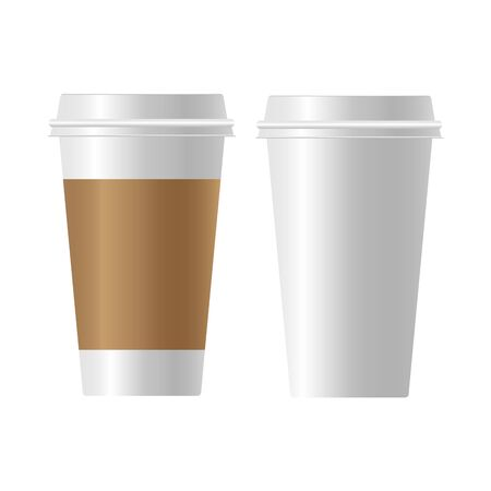 coffee cup paper Realistic