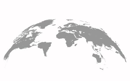 Map world Curved shape Gray vector