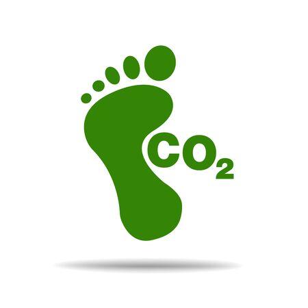 CO2 footprint concept