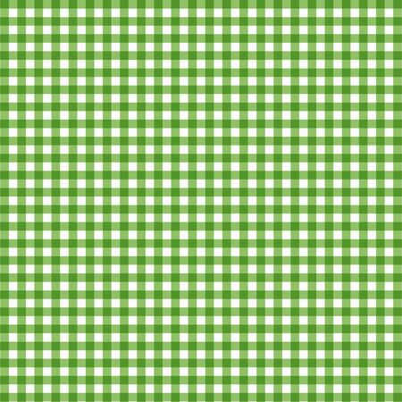 Vector gingham pattern in green background
