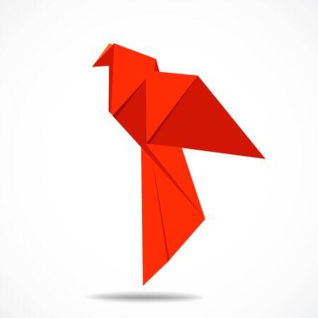 Origami bird vector sign