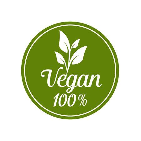 1.Vegan icon set. Bio, Ecology, Organic logos and badges, label, tag. Green leaf on white background. Vector illustration