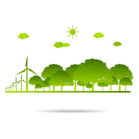 Ecology concept save nature Green environmentally friendly