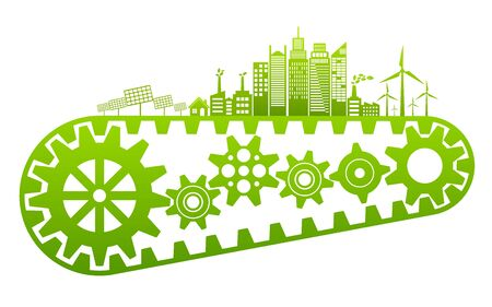 Ecology concept and Environmental, Banner design elements for sustainable energy development, Vector illustration