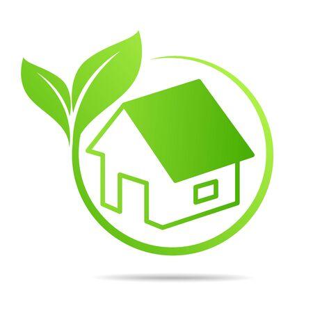 Real Estate, Eco House design vector template Vetores