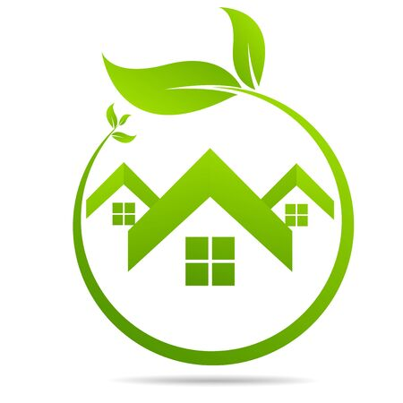 Real Estate, Eco House design vector template Ilustracje wektorowe