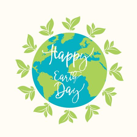Earth Day. Eco friendly concept Ilustrace