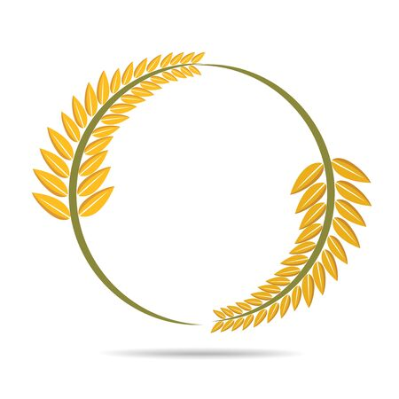 wheat on white, agricultural vector illustration
