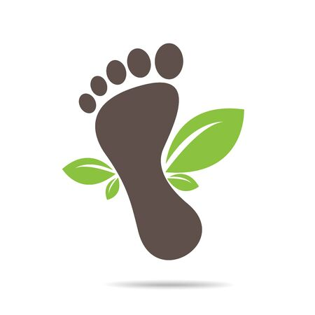 footprints of green leaves organic health and beauty care design