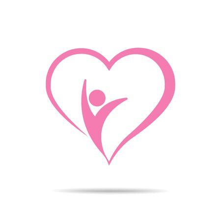 Heart Care Concept Design vector icon