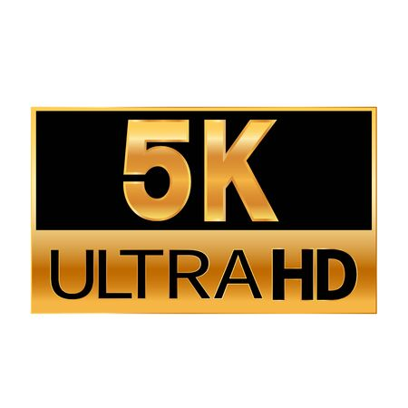 5K Ultra HD resolution icon for web and mobile