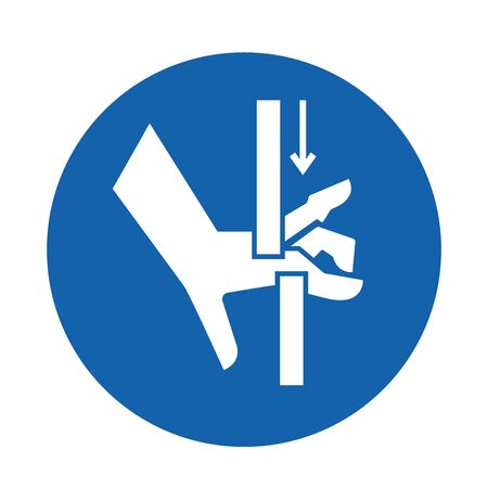 Crush Hand Top Bottom Symbol Sign Isolate on White Background, Vector Illustration Vetores
