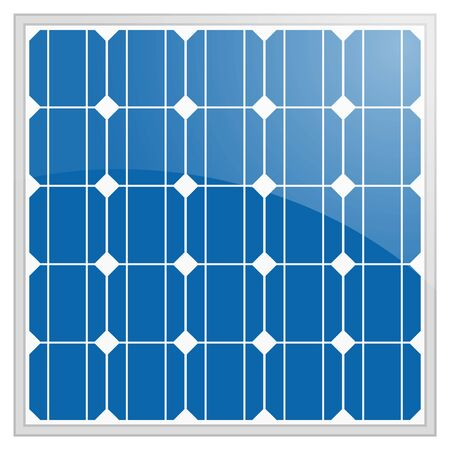 silicon photovoltaic electric solar panel texture Detailed vector illustration