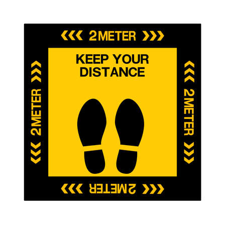 Social Distancing Keep Your Distance Icon. Vector
