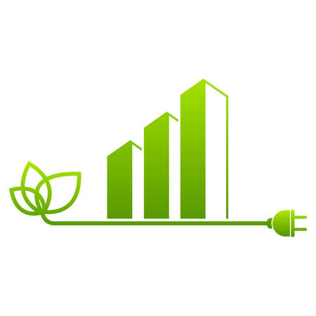 Eco City Real Estate Leaf and Green sign Template