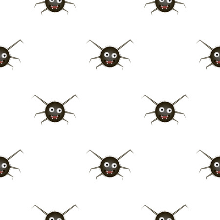 hairy legs: seamless pattern with funny spider. Illustration.