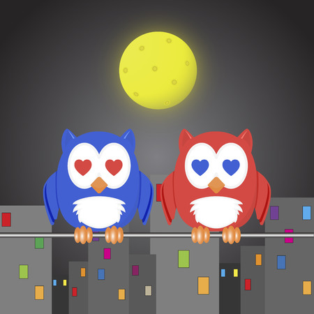 owlet: owlet two lovers Illustration