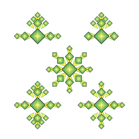 beau: Set rhombus template on a white background Illustration