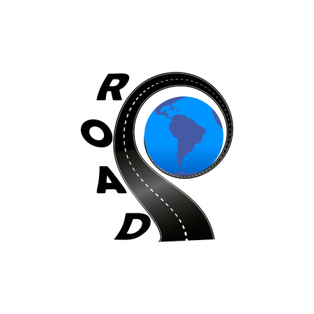 Road with the globe,  template