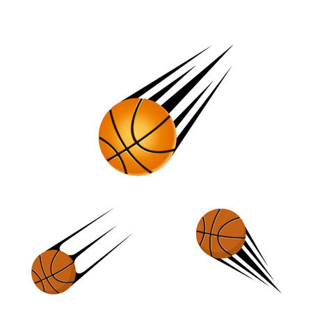 Basketball ball for logo the team and the cup on a white background
