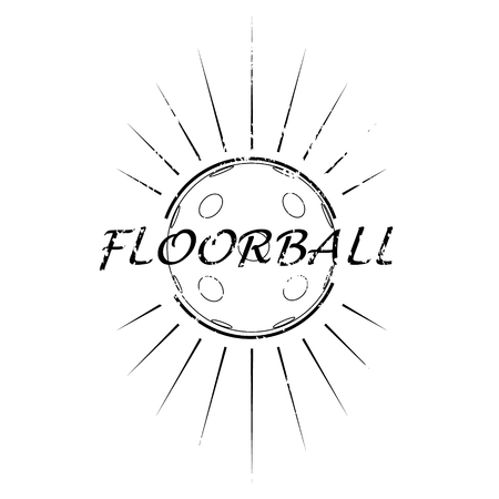 floorball: Floorball logo the team and the cup on a white background Illustration