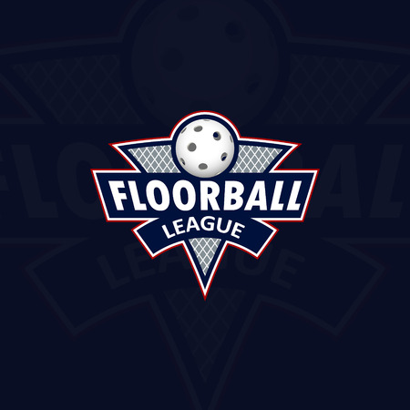 floorball: Floorball for the team and the cup. vector illustration