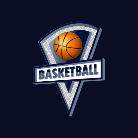 Logo for the basketball team or a league