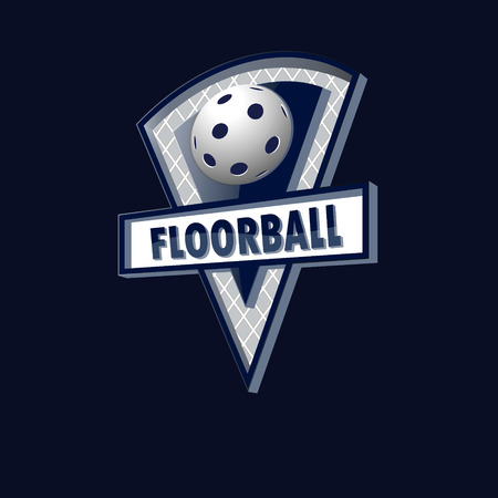 floorball: Floorball logo for the team and the cup. vector illustration Illustration