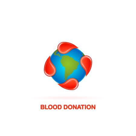 endow: blood donation logo on a white background