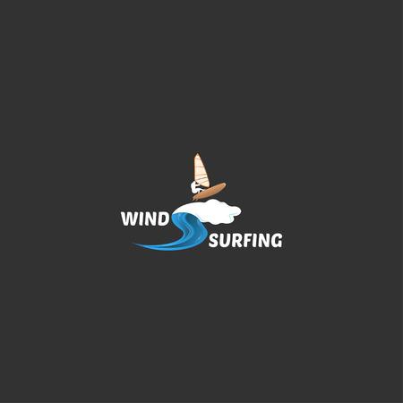 windsurf: ilustraci�n de windsurf Vectores