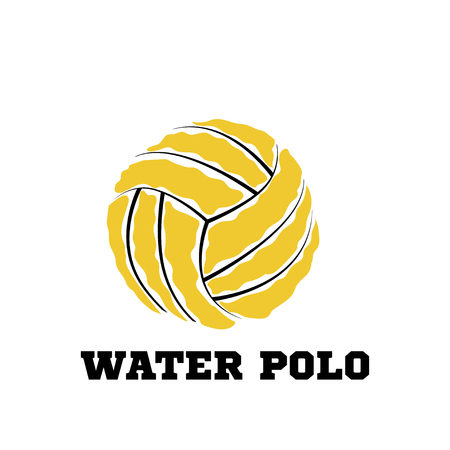 Water polo ball  for the team and the cup. vector illustration