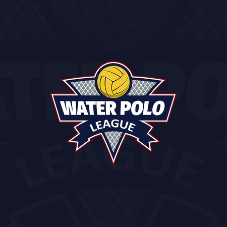 crossbar: Water polo   for the team and the cup. vector illustration