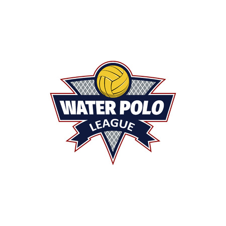 Water polo  for the team and the cup. vector illustration