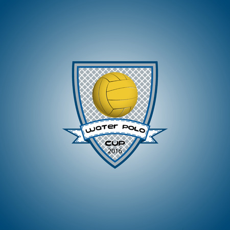 Water polo logo for the team and the cup. vector illustration Illustration