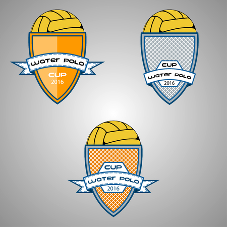 Set water polo logo for the team and the cup. vector illustration Illustration