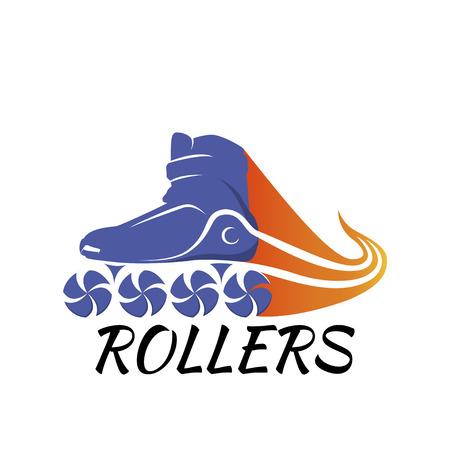 Logo roller skating. Roller skates vector illustration Illustration