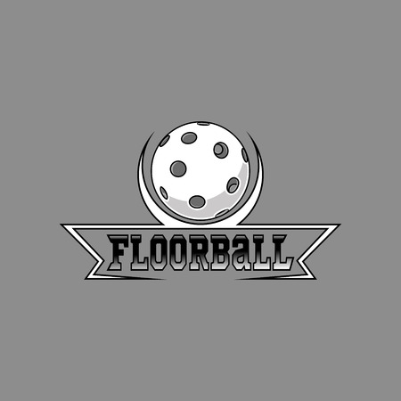 Floorball logo for the team and the cup on a white background