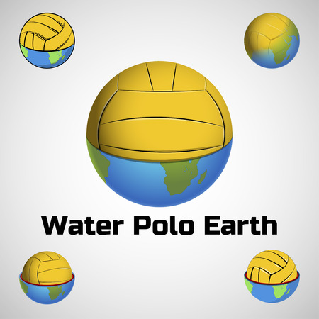 globe logo: Water polo earth logo for the team and the cup Illustration