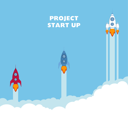 Start Up. Rocket ship.