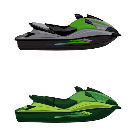 Set jet ski, scooter Vecteurs