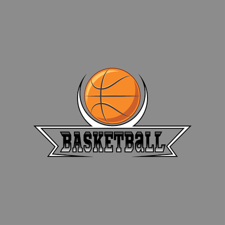 Basketball logo for the team and the cup. vector illustration