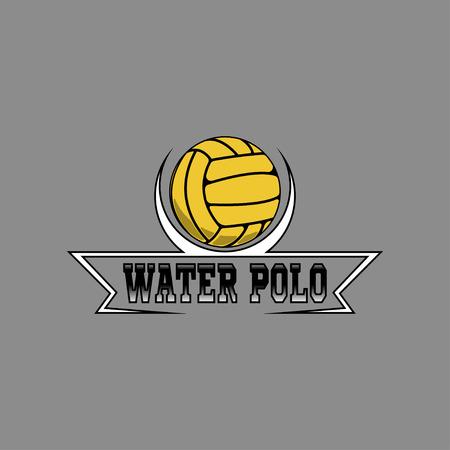 Waterpolo-logo voor het team en de beker Logo