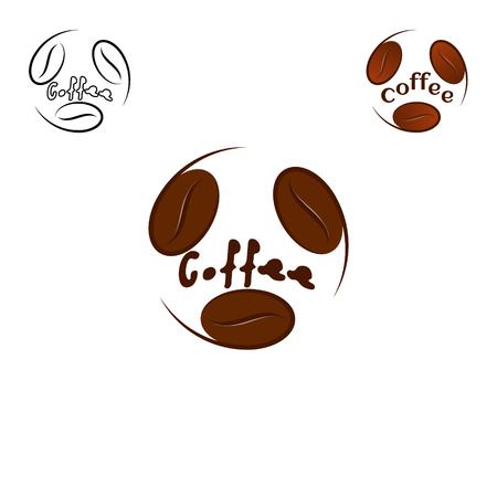 coffee beans: Coffee Logo design vector template.
