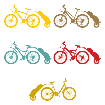 Imposta il rimorchio della bici Vettoriali