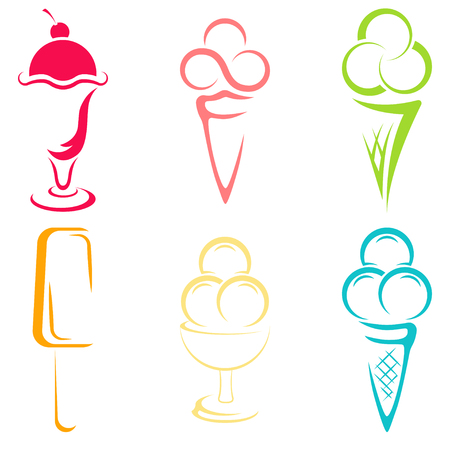 Ice cream logo for company or shop