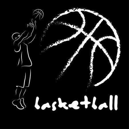 Cartel abstracto del baloncesto y del streetball