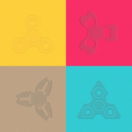 textil: Seamless pattern with Fidget Spiner, vector illustration Illustration