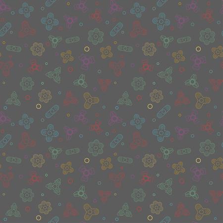 textil: Seamless pattern with Fidget Spiner