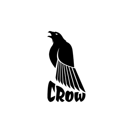 Black crow logo on a white background raven isolated royalty black crow logo on a white background raven isolated royalty free cliparts vectors and stock illustration image 85468676 sciox Choice Image